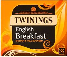 Twinings English Breakfast Tea 1 Box of 100 Tea Bags  NEW PACKAGING