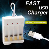 1.2V 4-Slot AA/AAA Rechargeable Battery Charger Adapter USB Plug No.5 No.7 1pc