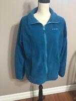 Columbia Women's Blue Full Zip Up Zip Pockets Fleece Jacket Size XL