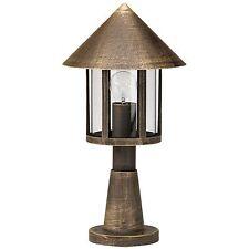 Außenleuchte Außensockelleuchte Landhausstil bronzefarben IP44 max. 75W Albert