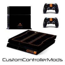 Black Ops 3 Skin Sticker For Sony PS4 Playstation 4 Console + 2 Controllers (1)