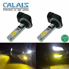 2X Super Bright Yellow LED 881 886 889 894 Auto Bulbs for Driving Fog Lights 12V