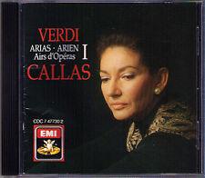Maria CALLAS: VERDI ARIAS 1 Macbeth Nabucco Aida Ernani I Lomvardi Vespri EMI CD