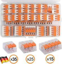 75x Wago Klemmen WegeKlemme mit Hebel 221-412 /221-413 /221-415 Hebelklemmen Set