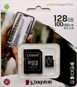 128GB Class 10 Kingston SDXC Canvas Select Plus Card+Adapter Full HD Videos