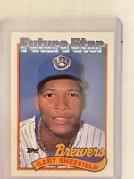 1989 Topps Gary Sheffield Milwaukee Brewers #343 RC Baseball Card