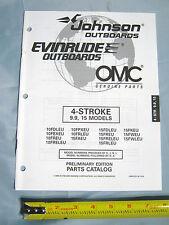 Johnson Evinrude 4 Stroke 9.9HP, 15HP Models Outboard Boat Motor Parts Catalog