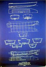 "Boat Plan Duck Hunting Skiff 1946 Blueprint Drawing 24""x36"" (035)"