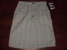 Boys Size 12 MAMBO Khaki Plaid Casual Dress Shorts Adjustable Waist 100% COTTON