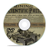 Vintage Mining and Scientific Press, 1862 - 1882, 1000 Back Issues Vol 1 DVD V33