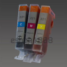 3 Color CLI-221 Ink W/chip for Canon MX860 MP980 IP4600
