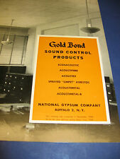Gold Bond Sound Control Products catalog 3 Lot U S Navy Asbestos Vintage 1940's