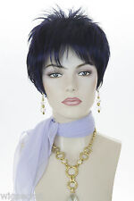 Arty Youthful and Chic!  Short Straight edgy Tapered Cut Blonde Red Wigs