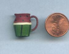 Miniature Dollhouse Hand-Painted Watermelon Pitcher