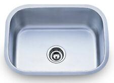 Dowell 6D001-2317 18 Gauge Single Bowl Undermount SS Kitchen Sink with Strainer