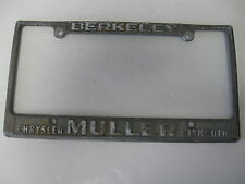 MULLER CHRYSLER Berkeley California embossed dealership license plate frame