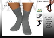 6 Paar Herren Diabetiker Socken / Strümpfe aus Baumwolle ohne Gummi ohne Naht!