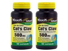 ( PACK 2 ) 60 CAPSULES CAT'S CLAW UÑA DE GATO CATS 500 mg NATURAL Immune System