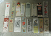 Lot of 16 Vintage Late 1800s to Early 1900s Trade Card and Other Bookmarks