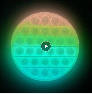 Glow In The Dark Push Bubbles Sensory Pop It Fidget Replace the Mobile in Bed