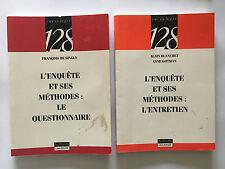 L'ENQUETE ET SES METHODES LE QUESTIONNAIRE + L'ENTRETIEN 1992 DE SINGLY BLANCHET
