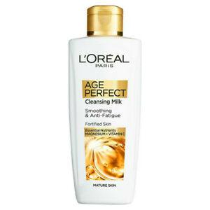 L'Oreal Cleansing Milk 200ml Age Perfect Smoothing Anti-Fatigue Fortified Mature