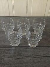 Set Of 5 Unusual Cut Glass Shot Glasses