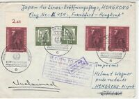 Germany 1962 Frankfurt-Tokyo Multi Stamp & Cancel Return Stamps Cover ref 22814