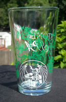 New Stone IPA Brewing Beer Pint Glass gargoyle logo hops