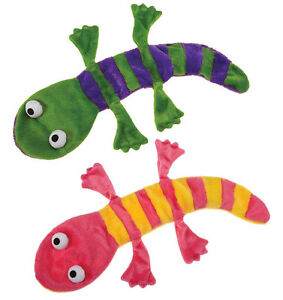 Grriggles Unstuffy Lizards Dog Toy Squeakers Plush Stuffing-Free Great for BIGGE