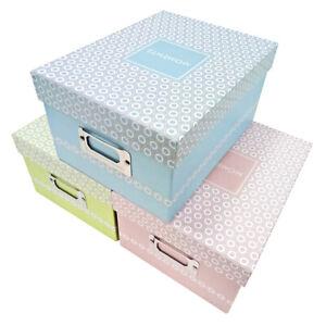 3x Fotoboxen Foto Box bis zu 700 Fotos Aufbewahrungsbox bis 10x15 fröhlich bunt