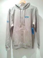 VOX Hoody Zip Grey Heather Hood SIZE Pullover Fleece Skate Board Surf BMX Hoodie