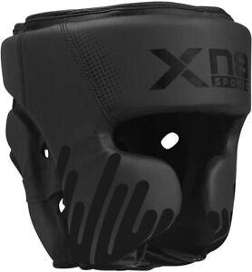 XN8 Kopfschutz Boxen Headguard Kampfsport Kickboxen Leder Kopfschutzhelm MMA DE