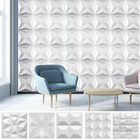 Modern Numbers Letters Pattern Brick Background Retro PVC Wallpaper Roll 57sq.ft