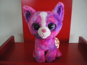 Ty Beanie Boos DAKOTA the dog 6 inch NWMT. Justice Exclusive.LIMITED QUANTITY.