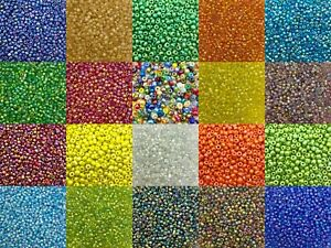 4mm Rainbow glass seed beads 50g pack, size 6/0 approx 750 beads, choose colour
