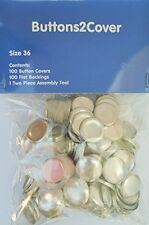 NEW 100 Buttons Cover Flat Back Size 36 7 8 and Assembly Tool Kit