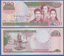Dominican Republic 200 Pesos 2013 UNC P New, Low Shipping! Combine FREE!