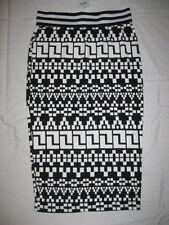 Mid-Calf Regular Machine Washable Geometric Skirts for Women