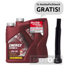 5W-30 Motoröl 10 Liter 2x5 MANNOL Energy Combi LL BMW LL-04 + Auslaufschlauch