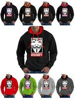 V for Vendetta Hoodie Anarchy Anonymous Hoody Guy Fawkes Mask Hooded Sweatshirt