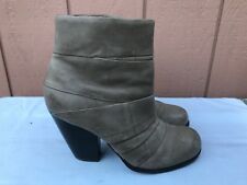 EUC VINCE CAMUTO Belta Women's Beige Leather Ankle Boots Size US 8 EUR 38 A2
