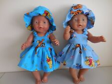"BABY BORN 17""  DOLLS CLOTHES POOH BEAR  SUMMER  OUTFIT"