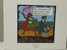 Tintin Extrait Planche Le Temple du Soleil #1 - Hergé Moulinsart / 24 x 20 cm