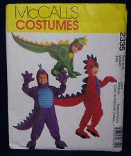 McCall's Costume Sewing Pattern 2335 Dragon Halloween Costume 3-4 M Boys & Girls