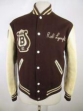 VTG Men's Roger Bacon Cuir Leather Varsity Jacket Size S A3697