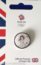 OFFICIAL TEAM GB RIO 2016 GOLF OLYMPIC PICTOGRAM PIN - RIO 2016 OLYMPIC GOLF PIN