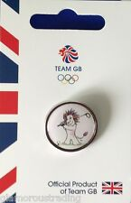 OFFICIAL TEAM GB GOLF OLYMPIC MASCOT PICTOGRAM PIN - LIMITED CIRCULATION OLYMPIC