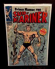 SUB-MARINER #1 1st Print Namor Marvel Comics John Buscema 1968 VF