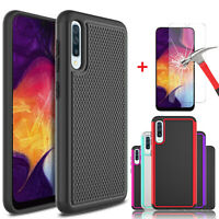 For Samsung Galaxy A10e A20 A50 A30 Slim Case Cover With Glass Screen Protector